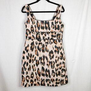 Red Valentino Leopard Print Dress w/ Big Back Bow